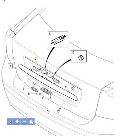 Mikrostyk klamki bagażnika Volvo S40 II, V50 2004-2007